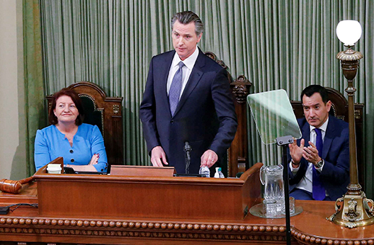 Governor Newsom and Speaker Rendon and pro Tem Atkins