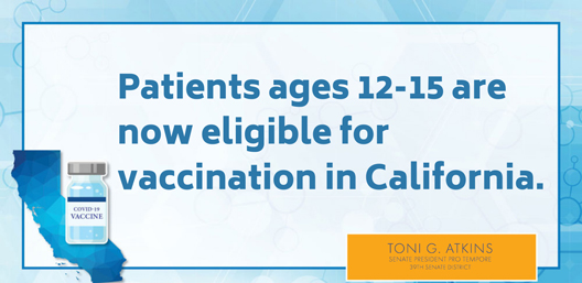 Vaccine available to 12+