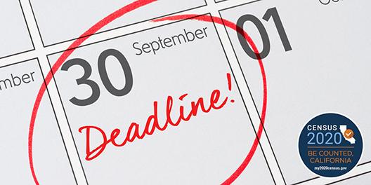 Census Deadline Sept 30