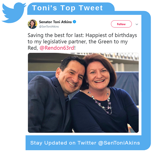 Toni's Latest Twitter Post